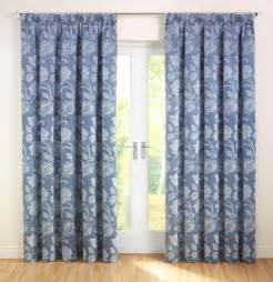 Patterned Blinds Portofino Ready Made Curtains In Blue Free Uk Delivery