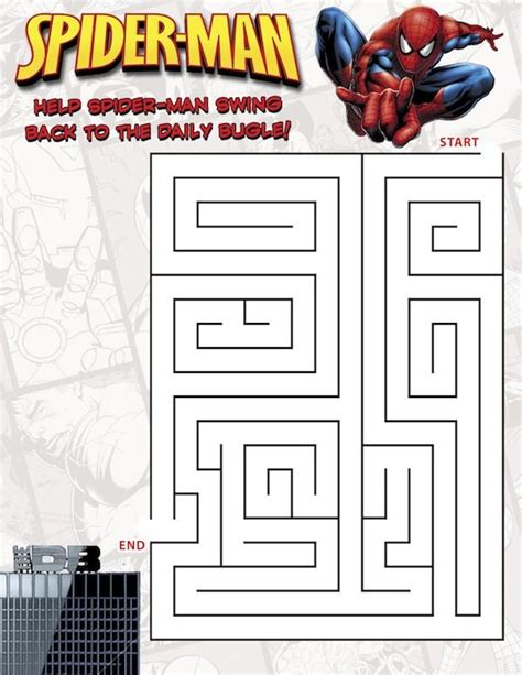 printable heroes catalog spiderman maze http www great kids birthday parties com