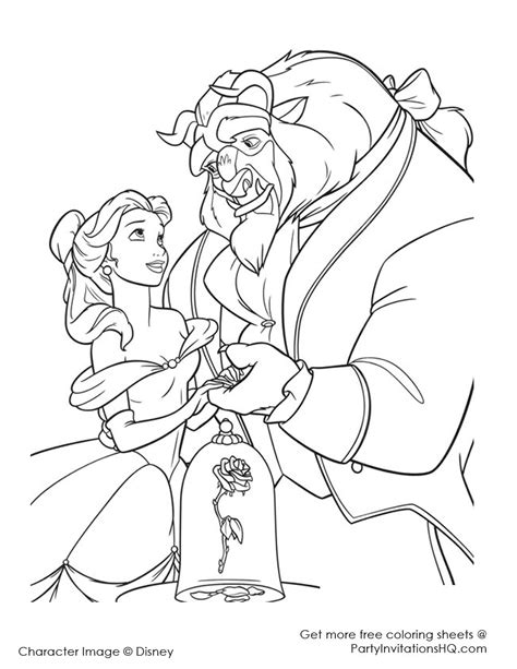 beauty beast coloring pages pictures print color craft