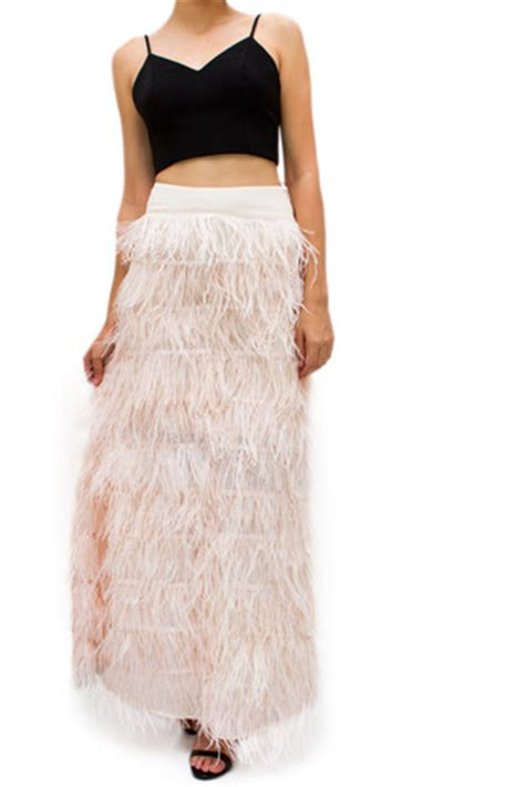 feather skirt dressed up