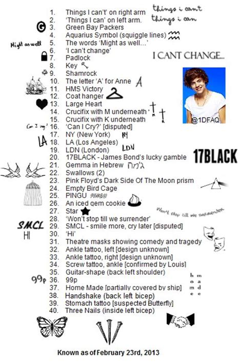 how many tattoos does harry have best 25 harry styles tattoos ideas on harry