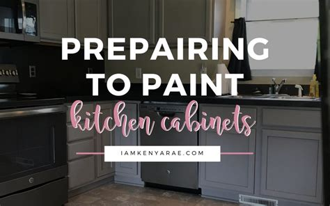 preparing kitchen cabinets for painting preparing to paint kitchen cabinets how to what to use