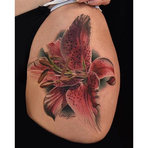 unique tattoo instagram quot haven t tattooed a stargazer lily in quite a while