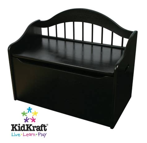 toy bench chest kidkraft black wood toy box chest bench limited ed ebay