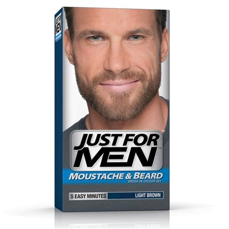 just for men light brown buy just for men beard colour light brown online at
