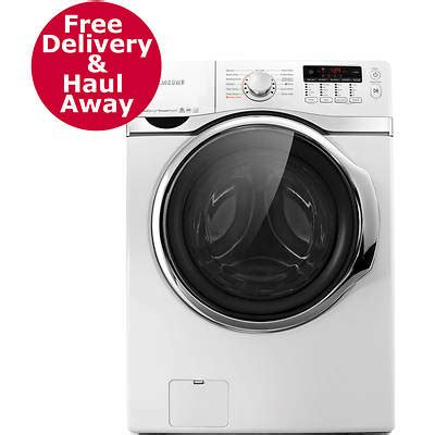 samsung 4 0 cu ft front loading washer with vrt and powerfoam white bj s wholesale club
