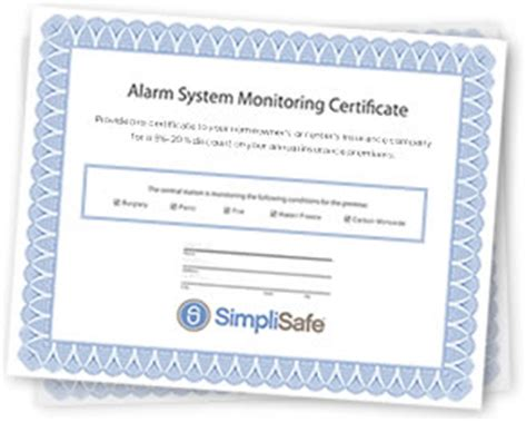 alarm installation certificate template home security systems from simplisafe