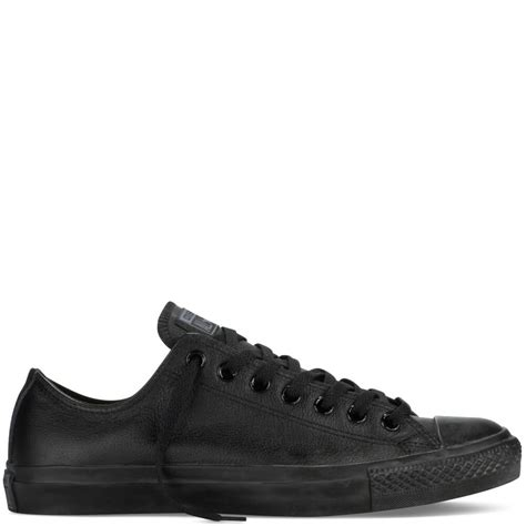 Converse Low 5 chuck all leather converse low tops mens black