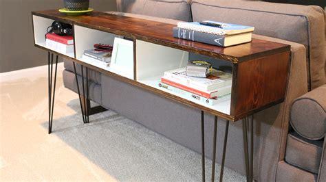 your own sofa table build a mid century modern sofa table diywithrick