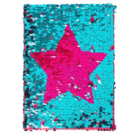 Pink Notebook reversible pink and mint sequin notebook s us