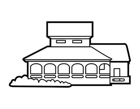 casa scuola disegno di casa scuola da colorare acolore
