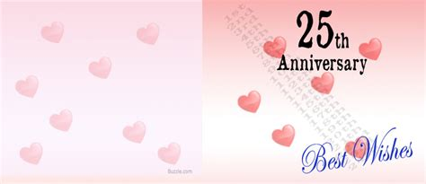 printable 25th anniversary greeting cards excellent printable 25th anniversary card template with