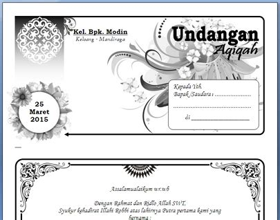 template undangan docx word 2007 dian permana blog