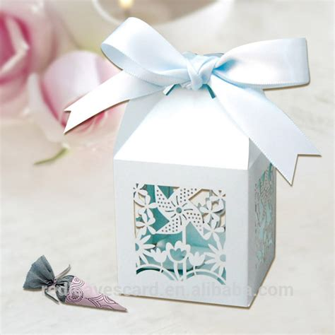 yiwu wholesale wholesale wedding favor boxes with ribbon in blue buy wholesale wedding