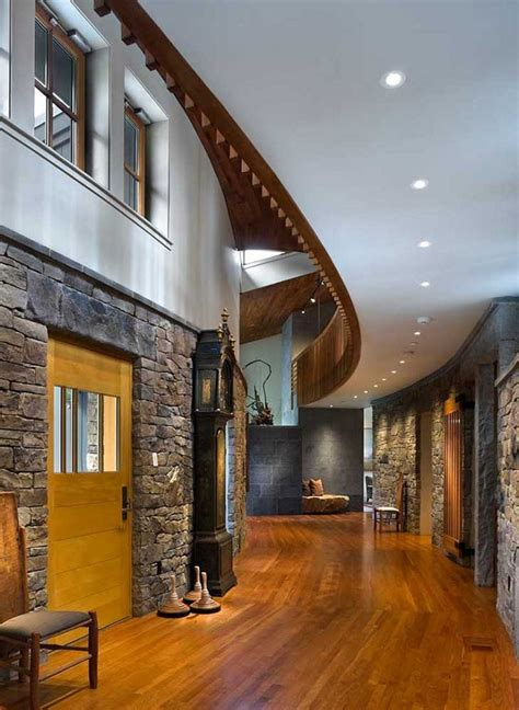 rustic interior design by halvorsen architects decoholic rustic yet contemporary lakewood house by centerbrook