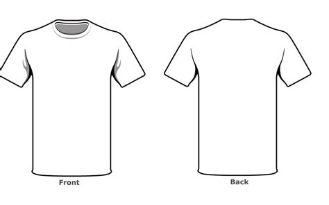 blank tshirt template front  side  high resolution