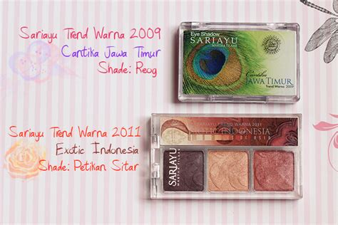 Eyeshadow Sariayu Petikan Sitar sariayu eyeshadow yang bagus dan wearable review e l