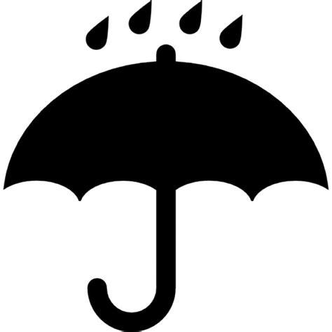 imagenes blanco y negro lluvia negro abri 243 s 237 mbolo paraguas con las gotas de lluvia que