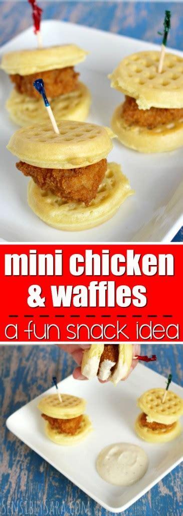 easy mini chicken  waffles recipe