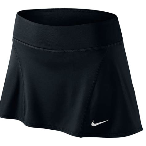 nike flouncy knit s tennis skirt black white