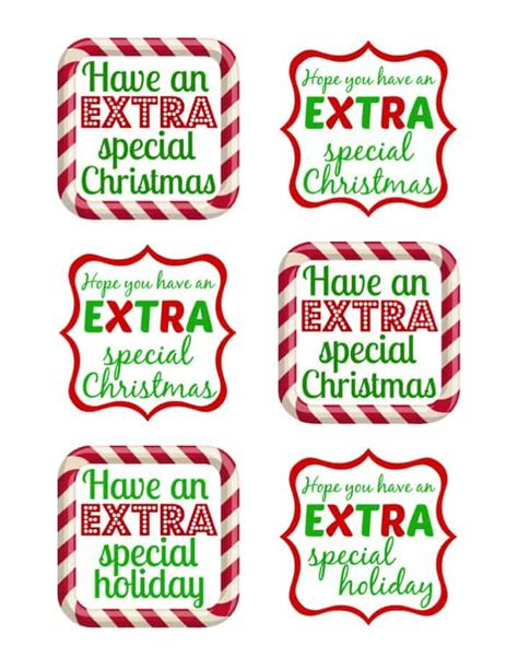extra large printable christmas tags thank you gifts extra gum just b cause