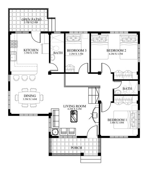 floor plan for small house small house designs series shd 2014006v2 eplans