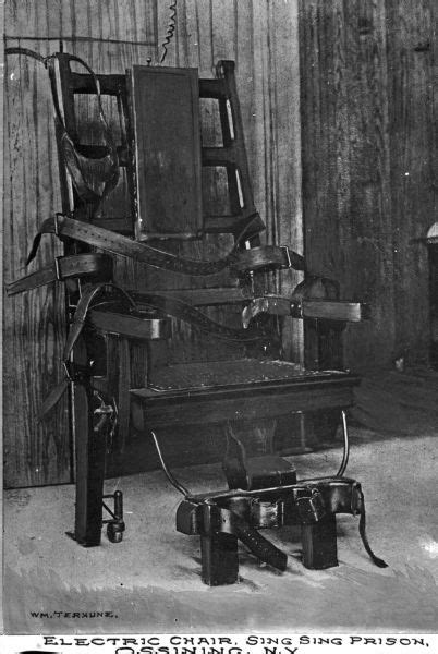 In Electric Chair by Electric Chair Sing Sing Prison Photograph Wisconsin Historical Society