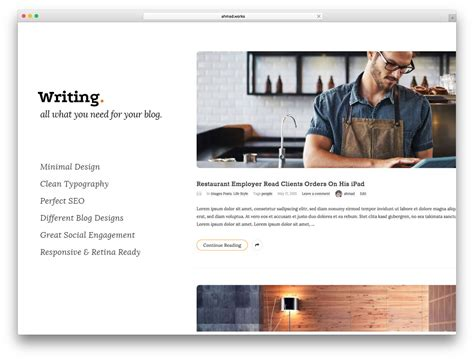 best designed blog best blog wordpress themes for personal and business blogs