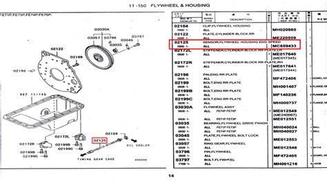 14 Suku Cadang Sparepart Mobil Hino Part mc859433 sensor flywheel housing eng speed spare part