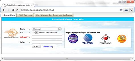 Surat Permintaan Jasa Untuk Pengiriman Di Asia Tenggara by Kode Pos Indonesia Kodepos Alamat Indonesia Pilih