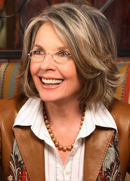 highlights adn lowlights for older women diane keaton has a beautiful exle of highlights and