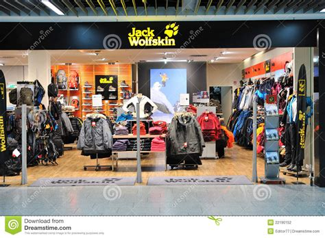 jack wolfskin fashion store in frankfurt airport editorial