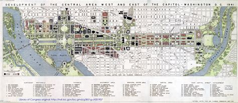 layout of the mall in washington dc beyonddc 187 1941 dc plan shows east mall no i 395