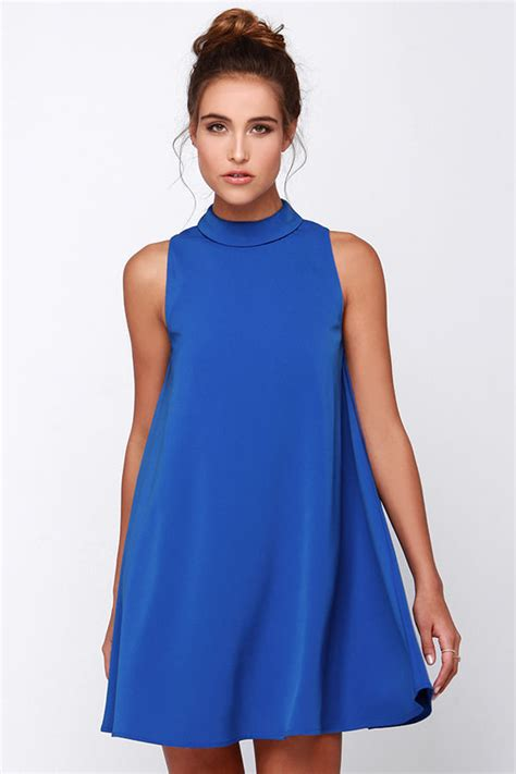 swing dresses blue dress sleeveless dress swing dress 77 00