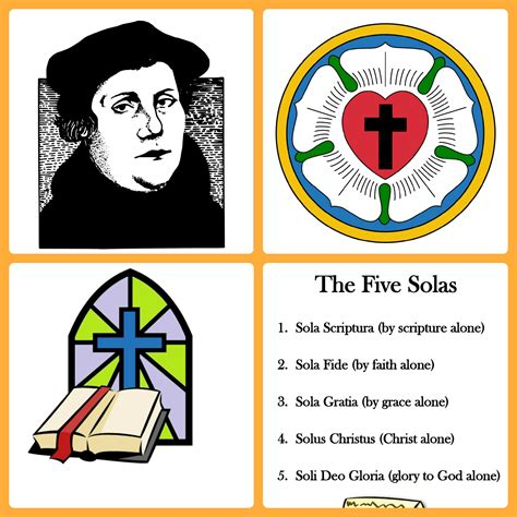 5 Solas Coloring Page by Reformation Day Activities Janelle Knutson