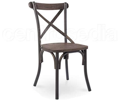 sedie legno vintage cross sedia metallo style seduta legno sedie vintage