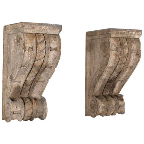 Corbel Wall Pair Of Antique Wall Brackets Corbels Circa 1850