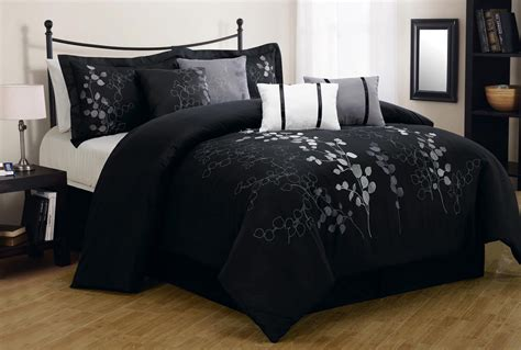black comforter sets silver and black bedspreads black models picture