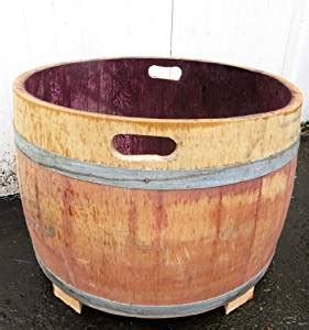 wine barrel bathtub amazon com wine barrel tub planter with handle