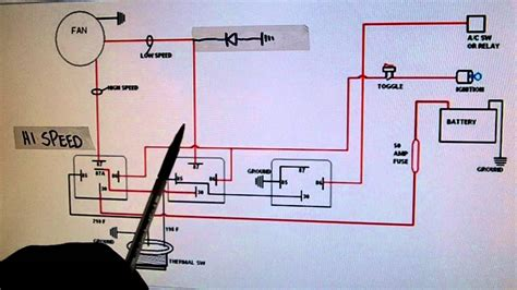 speed electric cooling fan wiring diagram youtube