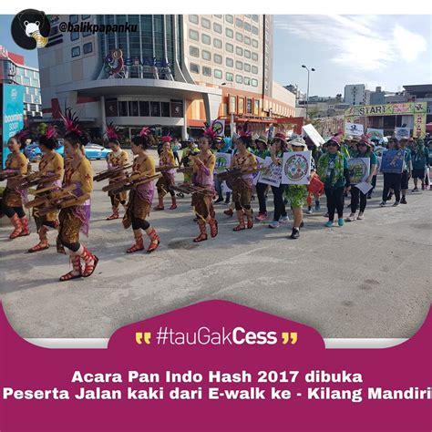 Kaos Teks Pancasila Arab Pegon walaupun panas peserta indo hash 2017 jalan dari e walk ke