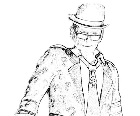 batman riddler coloring page free the riddler coloring pages
