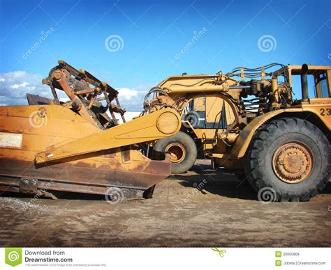 Heavy Industrial Machinery industrial heavy equipment machinery tractor stock photo