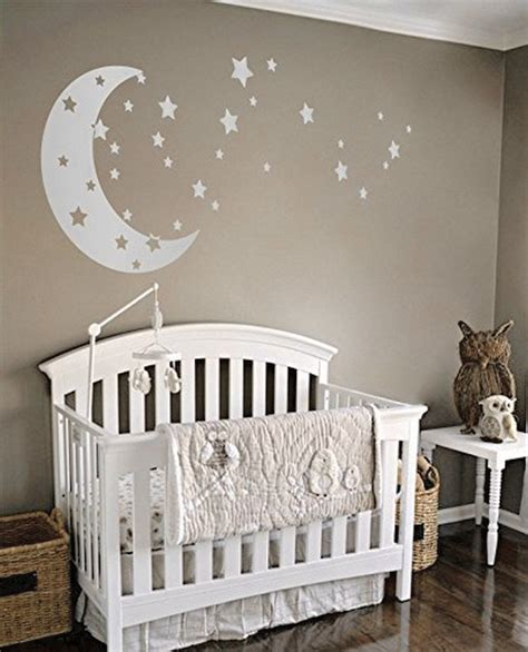 dazzling moon  stars nursery decoration ideas