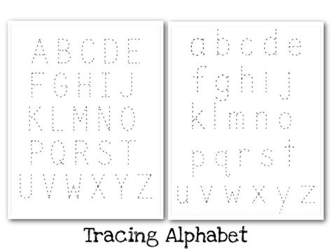 printable alphabet manuscript chart manuscript uppercase and lowercase tracing guide nuttin