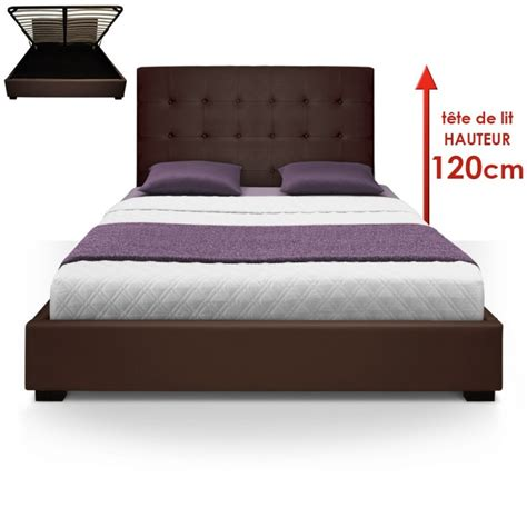 Lit Marron by Lit Coffre Sommier 160cm Marron Pas Cher D 233 Co