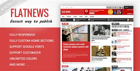 tutorial wordpress magazine theme plantillas wordpress flat news responsive magazine