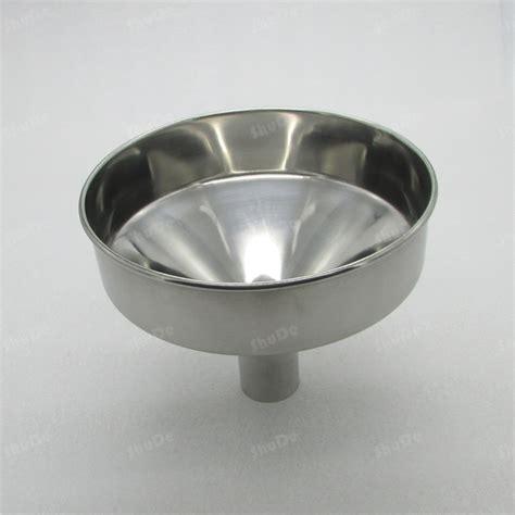 Promo Cetakan Lontong Stainless 20cm hopper funnel diameter 19cm 20cm 24cm steel funnel large stainless steel in colanders