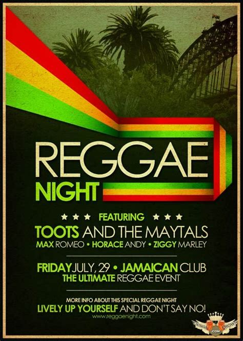 template flyer reggae reggae club poster free psd flyer download