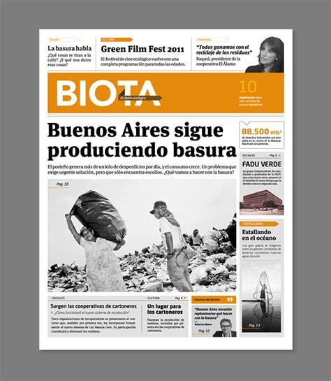 modular layout newspaper definition diario biota on behance